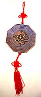 Metal made of FENGSHUI door hanging decoration, Chinese called it 'BA GUA' which is used to get rid of devil