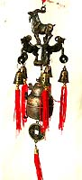 Metal made of FENGSHUI animal(goat) top of bell and coin, hang on a specific location to cather luck or pevent bad luck