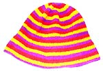 Assorted color hand crocheted hat, one size fits all