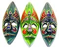 masks from Bali, Indonesia, assorted color painting wall decor