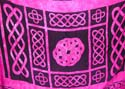 Celtic knot work pattern design pinky fashion sarong wrap