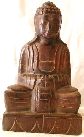 Online shopping catalog -brown wood carving Guan Yin statue