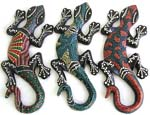Assorted color dotted Batik gecko plaque