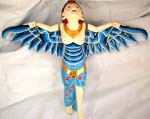 Color painting wooden flying lady mermaid, assorted color randomly pick