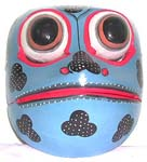 Black pattern decor color painting frog mask with open mouth, assorted color randomly pick by our staffs
