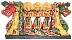 Color painting Indonesia double dragon lady buddha wooden plaque