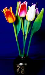 tulip wooden flowers handcrafted in Bali