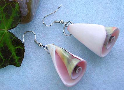 Wholesale costume and seashell jewelry, fashion earring with fish hook back