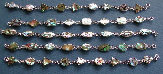 wholesale bracelet, 925 sterling silver jewelry with paua shell inlaid, bracelet wholesale lot price