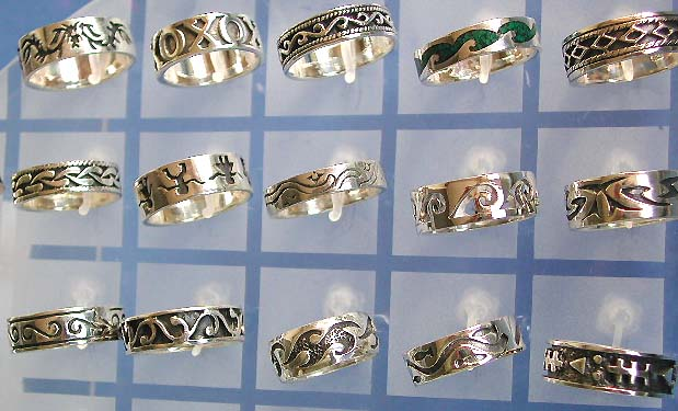 Wholesale 925 silver jewelry sterling, sterling silver ring with carved pattern, thick band motif