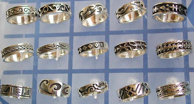 wholesale thailand silver jewelry, Thai sterling silver thumb ring and stack ring jewelry in 925