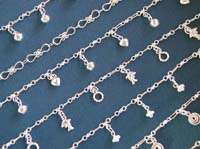 Foot wear online wholesale 925. sterling silver anklet with assorted pattern design