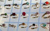 Wholesale sterling silver ring, wholesale cz jewelry synthetic gem stone inlaid