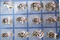 wholesale hip hop jewelry, sterling silver Celtic hip hop ring jewelry