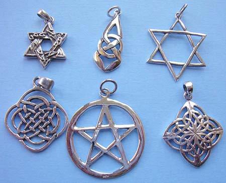 Mystic symbol jewelry wholesale star of david pentagram for Star of david jewelry wholesale