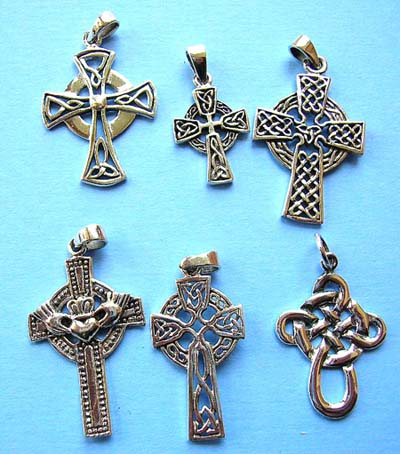 Wholesale religious jewelry, 925. sterling silver pendant in Celtic cross design