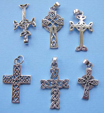 Wholesale new age jewelry, 925. sterling silver cross pendant