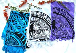 Wholesale rayon sarong, Celtic fashion tredn in assorted Celtic cross and tatto design, assorted colors and designs randomly pick