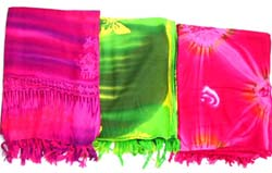 Wholesale Balinese rayon sarong, tie dye hippie rainbow designs rayon batik sarong from Bali Indonesia, wholesale beach wear and summer wrap, assorted colors and designs randomly pick